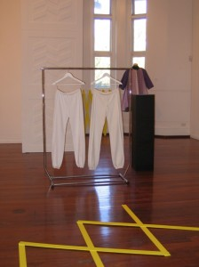Nina, Sarah and Tanya pause and reflect, with Clare Stephenson, installation view detail, 2012