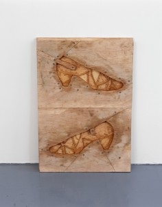 'Shoe moulds', wood and screws, 35 x 60cm, 2007