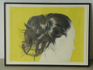 Prenzlauer Berg Ponytail 1, coloured pencil drawings, 42 x 59.4cm, 2014