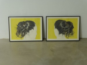 Prenzlauer Berg Ponytail 1 and 2, coloured pencil drawings, 42 x 59.4cm, 2014