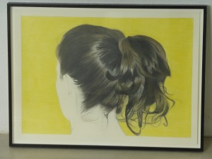 Prenzlauer Berg Ponytail 2, coloured pencil drawing, 42 x 59.4cm, 2014