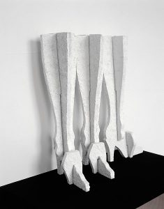 'Untitled- Three Legs', spray painted cast concrete, 60 x 25 x 12cm, 2006